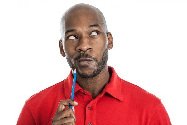 man considering computer repair shops