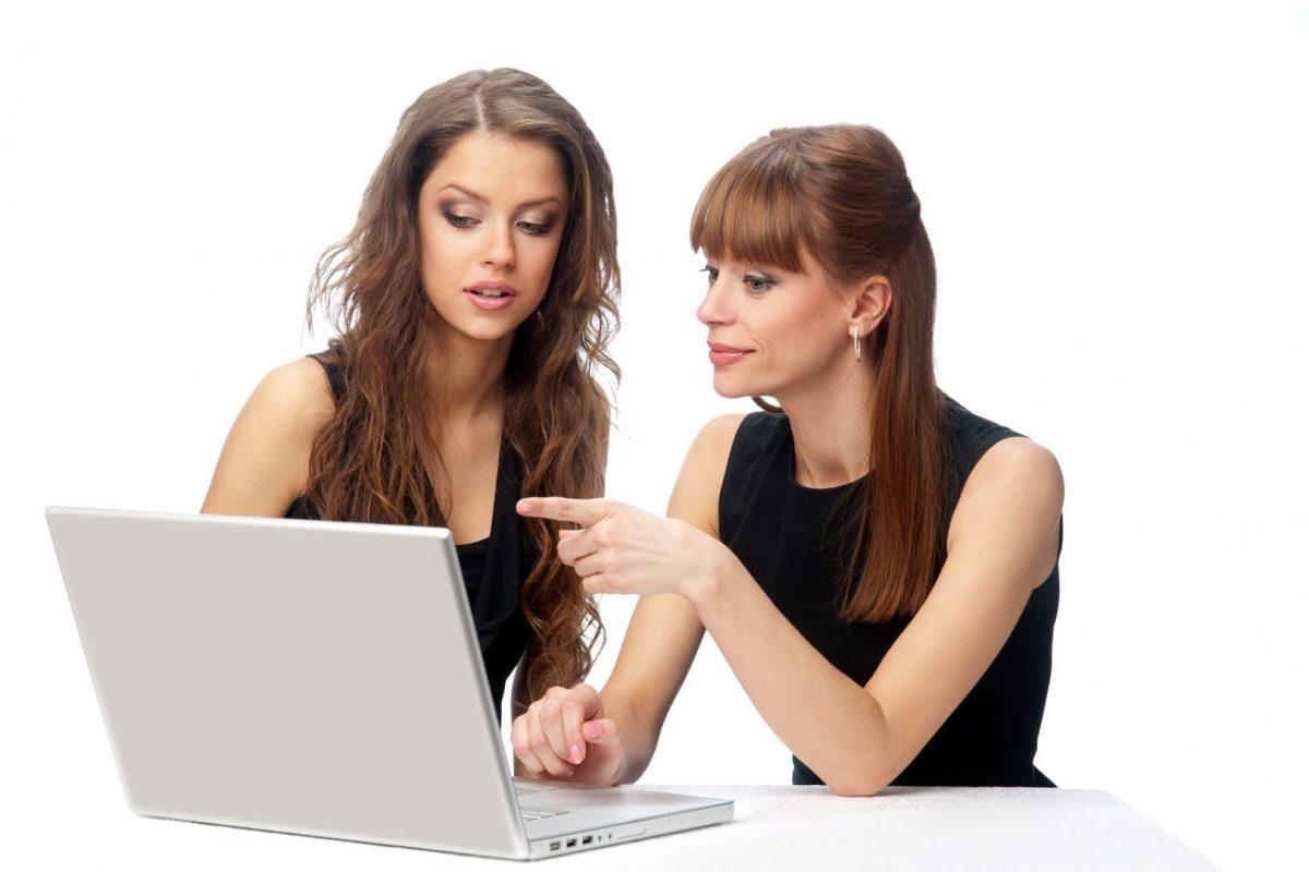 Women needing mac book computer repair