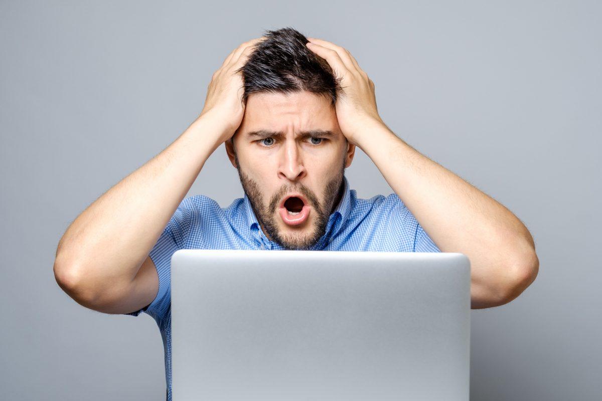 Man wishing he did proper maintenance to avoid computer repair